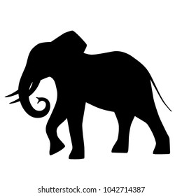 Decorative silhouette of a elephant.
