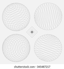 Decorative Sphere Elements Set 2 white | EPS10 Vector