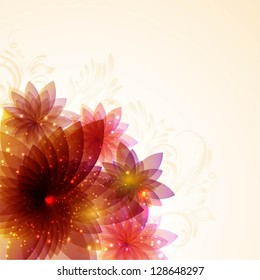 Decorative spring floral background