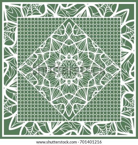 decorative square template fabric print azhure stock vector royalty