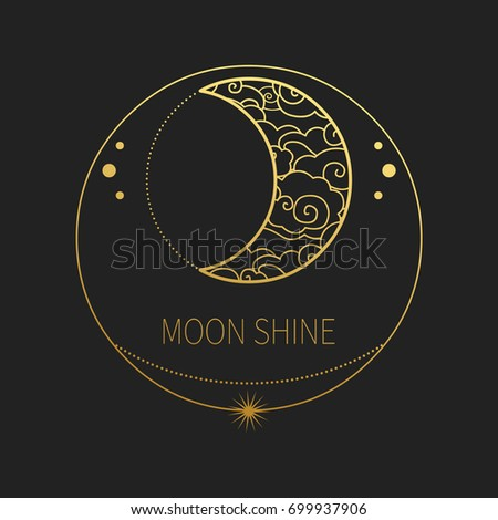 decorative template crescent moon vector design stock vector