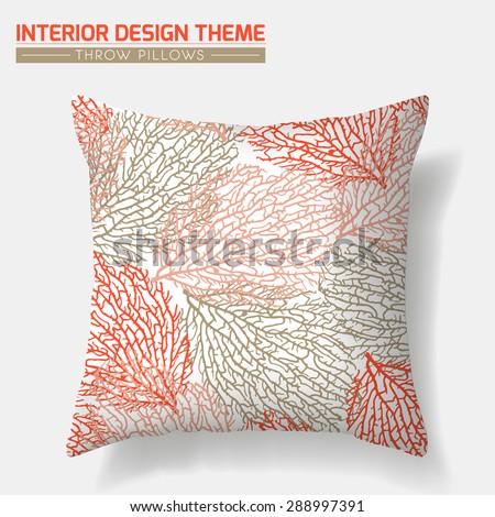 Decorative Throw Pillow Design Template Original Stock Vector Extraordinary Free Decorative Pillow Patterns