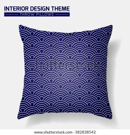 Decorative Throw Pillow Design Template Geometric Stock Vector Fascinating Free Decorative Pillow Patterns