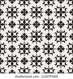 Decorative tiles Vector Seamless Pattern. Portuguese traditional style background. Abstract geometric texture.