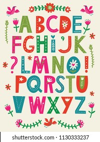 Decorative Vector Alphabet