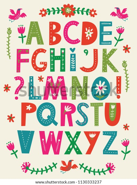 Decorative Vector Alphabet