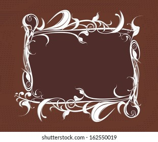 decorative vector frame on the grunge background
