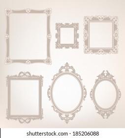 Decorative Vector Frames Set
