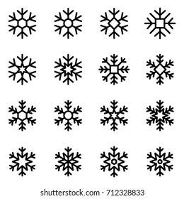 Decorative vector Snowflakes