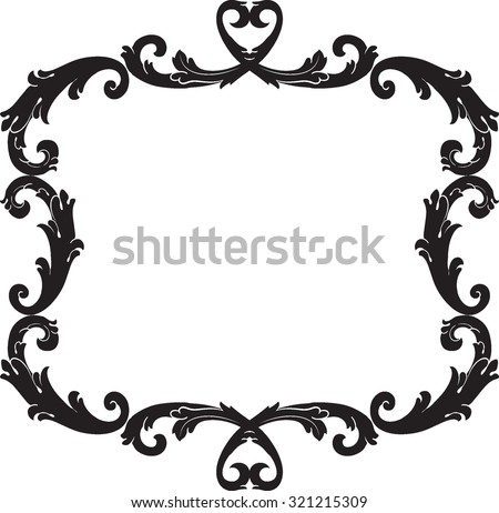 Decorative Vintage Borders Frames Page Decoration Stock Vector ...