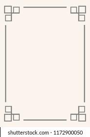 Decorative vintage fram border in rectangle proportion for background