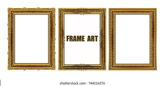 Decorative vintage frames and borders set,photo frame with corner line floral, flourishes set of border and corner silhouette, wood vector design is patterned Thai style