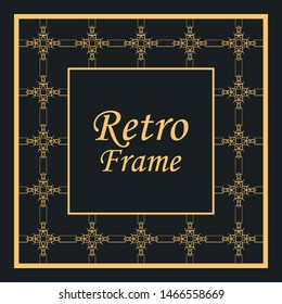 Decorative vintage modern art deco frame and border