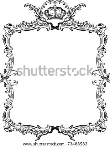 Decorative Vintage Ornate Frame Vector Illustration Stock Vector ...