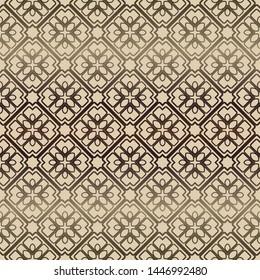 Decorative vintage style seamless geometric pattern. Vector illustration.