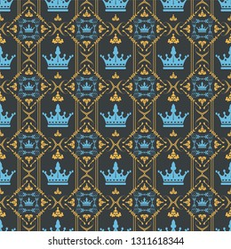 Decorative wallpaper background pattern in royal style vector graphic