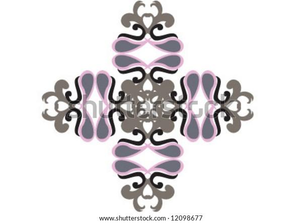 Decorative wallpaper design in shape