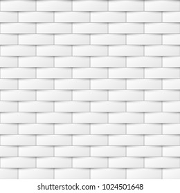 Decorative white seamless texture. Creative background. Paper tile pattern.