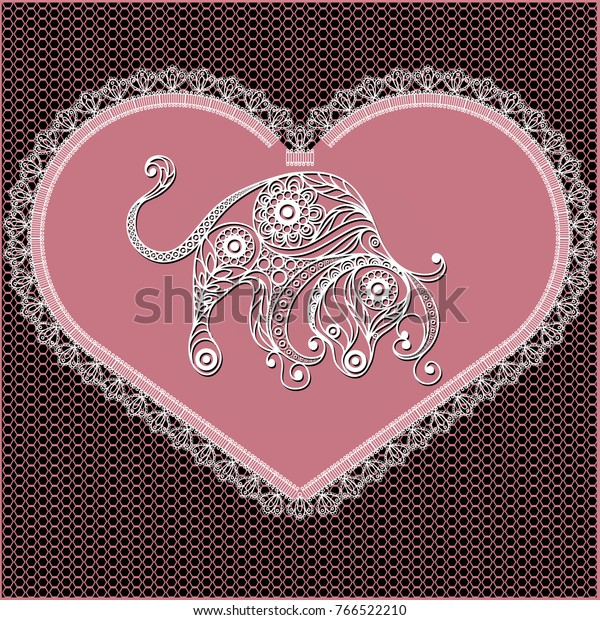 Decorative Zodiac Sign Taurus Horoscope Astrology Stock Vector