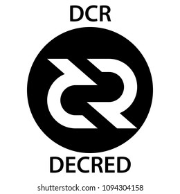 Decred Coin cryptocurrency blockchain icon. Virtual electronic, internet money or cryptocoin symbol, logo