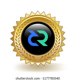 DeCred Cryptocurrency Coin Gold Badge Medal Award
