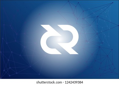 Decred DCR cryptocurrency logo network vector illustration