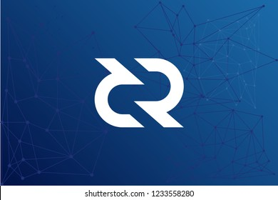 Decred DCR cryptocurrency network vector illustration