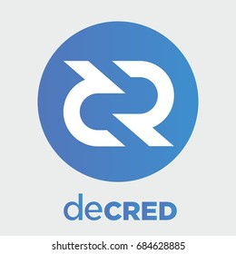 Decred (DCR) decentralized blockchain crypto currency. Decred coin vector logo, icon.