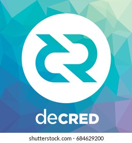Decred (DCR) decentralized blockchain. Decred crypto currency coin vector logo.