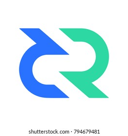 Decred (DCR) logo icon. Cryptocurrency / Altcoin.