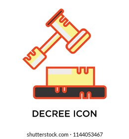 Decree icon vector isolated on white background for your web and mobile app design, Decree logo concept