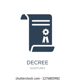 decree icon vector on white background, decree trendy filled icons from Guestures collection, decree vector illustration
