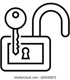 Decryption Key Vector Icon