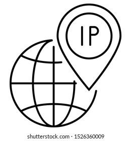 Dedicated IP Address Vector Icon Concept Design