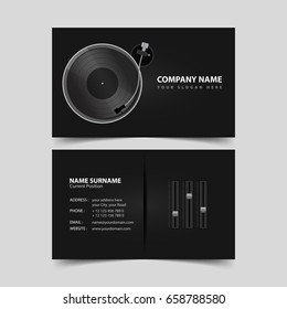 Deejay Business Card Template.