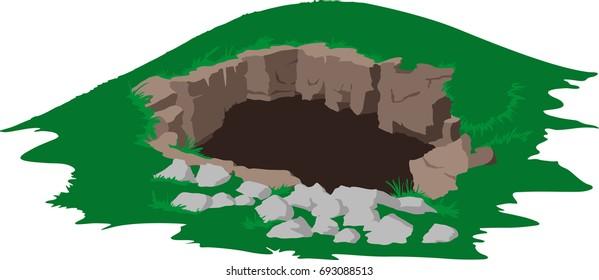 Deep cave entrance