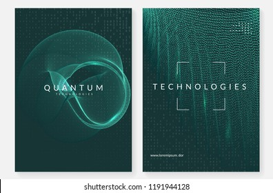Deep learning background. Technology for big data, visualization, artificial intelligence and quantum computing. Design template for software concept. Fractal deep learning backdrop.