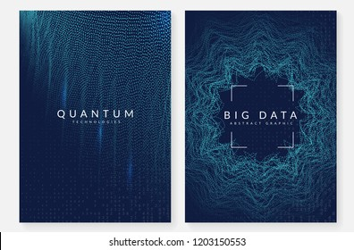 Deep learning background. Technology for big data, visualization, artificial intelligence and quantum computing. Design template for communication concept. Modern deep learning backdrop.