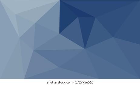 Deep ocean - beautiful blue marine abstract mosaic polygonal background