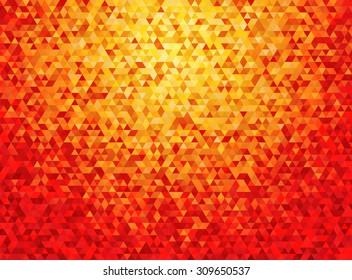 deep orange triangular background with vignette