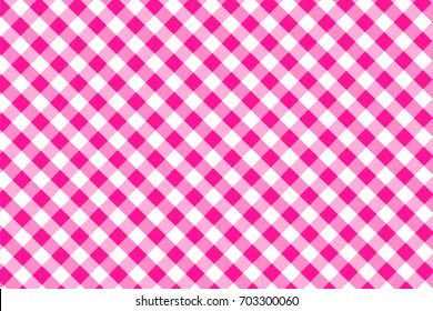 Deep Pink Gingham seamless pattern. Texture from rhombus/squares for - plaid, tablecloths, clothes, shirts, dresses, paper, bedding, blankets, quilts and other textile products. Vector illustration.