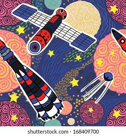 deep space seamless pattern
