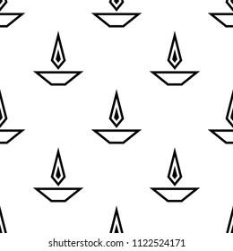 Deepak Ornamental Seamless Pattern Vector Art Illustration