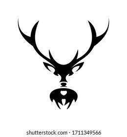 deer  animal  head  vector  black  symbol  logo
