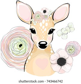 Deer animal portrait