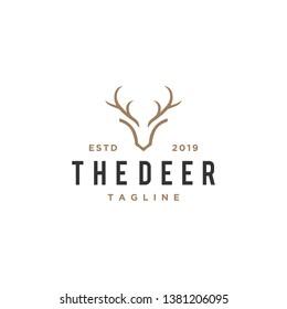 deer antler concept logo design