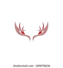 Deer antler logo icon illustration design vector template
