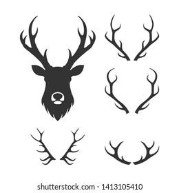 deer and antler logo illustration
