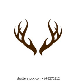 Deer Antlers Logo Template Illustration Design. Vector EPS 10.