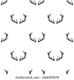 Deer antlers vector simple pattern design.
